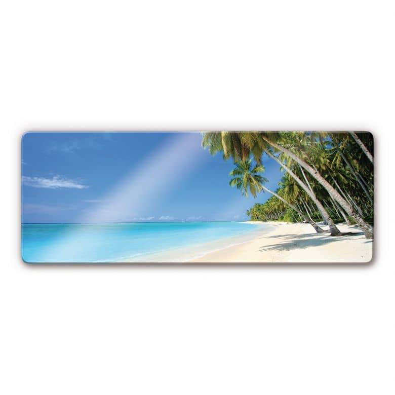 Tableau en verre - Paradis - Panorama