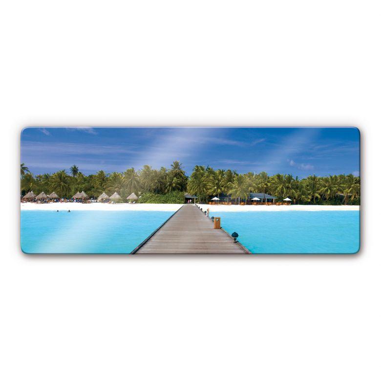 Glasbild Karibik - Panorama