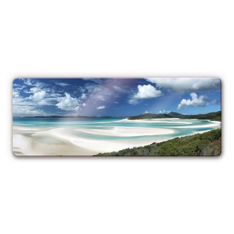 Glasbild Whitehaven Beach - Panorama