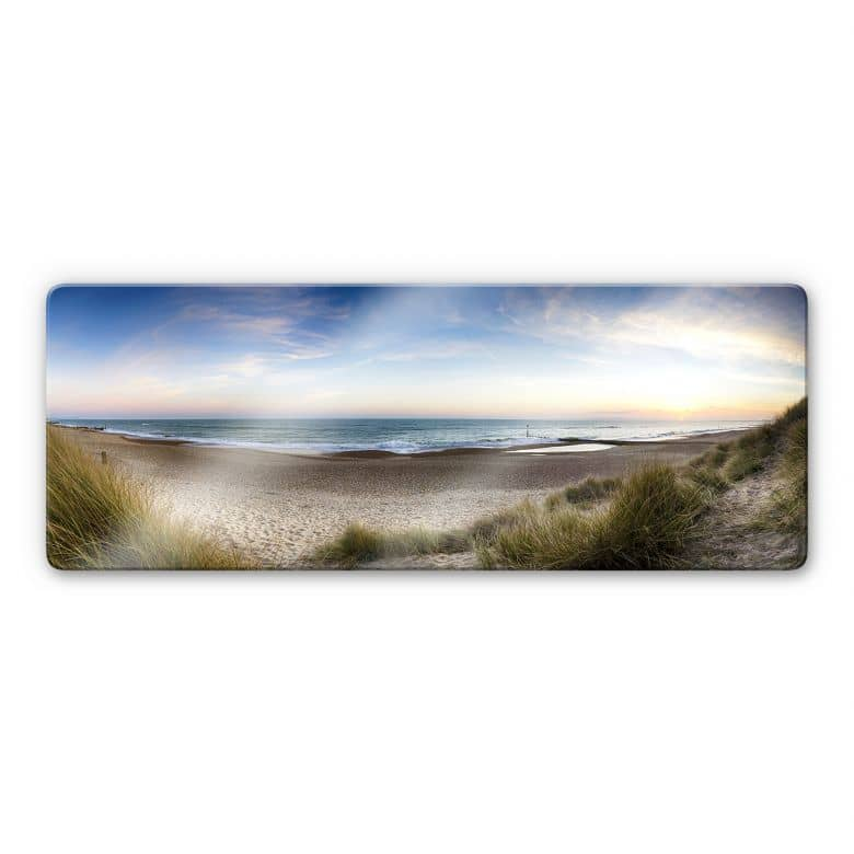 Beach panorama Glass art - panorama