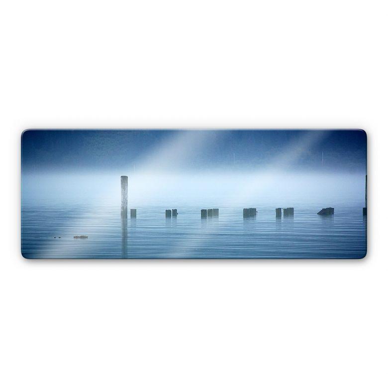 Glasbild Nebelbank - Panorama