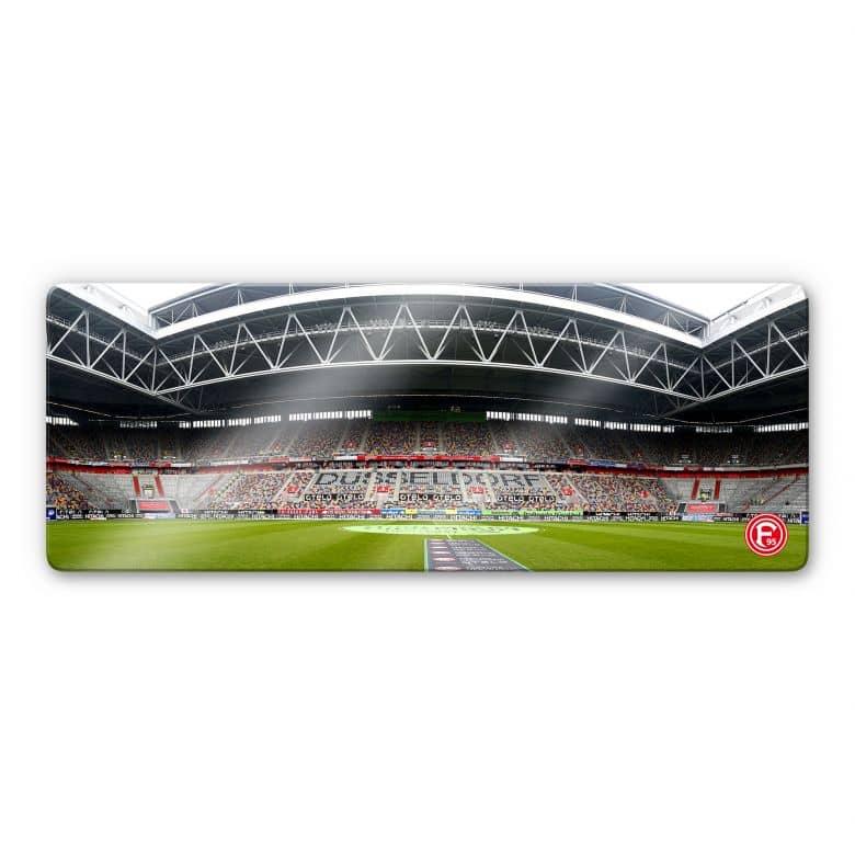 Glasbild Fortuna Düsseldorf Stadion Innenaufnahme