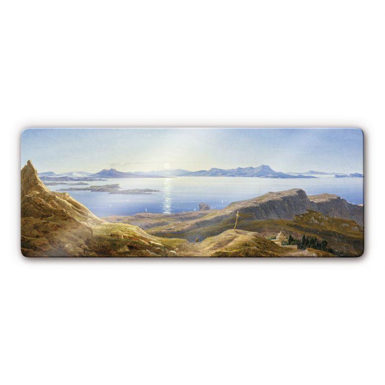 Glasbild Ahlborn - Küstenlandschaft am Golf von Neapel