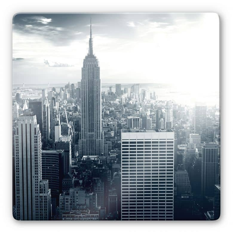 Glasbild The Empire State Building - quadratisch