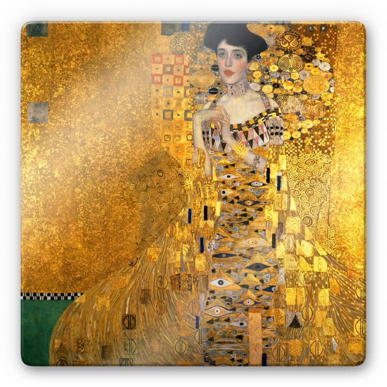 Glasbild Klimt - Bildnis der Adele Bloch-Bauer