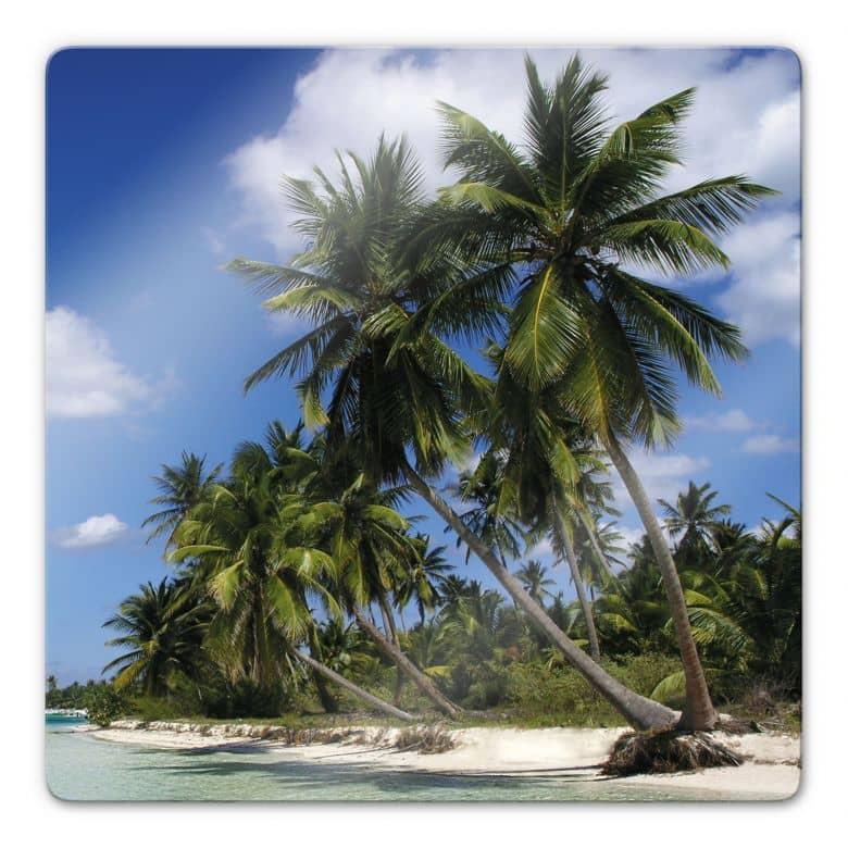 Glasbild Carribean Flair - quadratisch