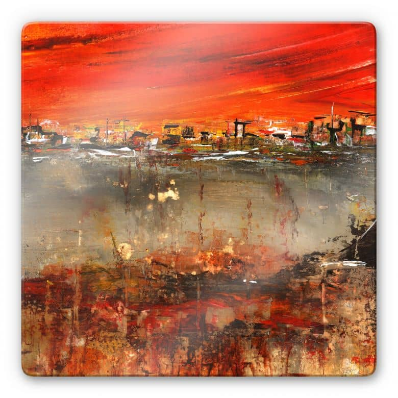 Glasbild Niksic - Am Rande der Stadt
