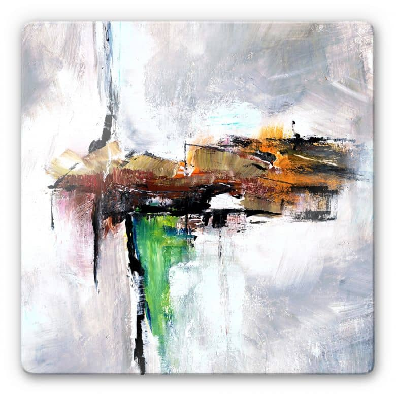 Glasbild Niksic - Modern Art