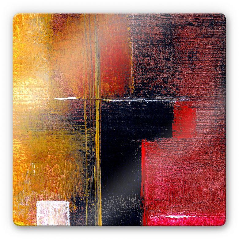 Glasbild Niksic - Moderne Kunst