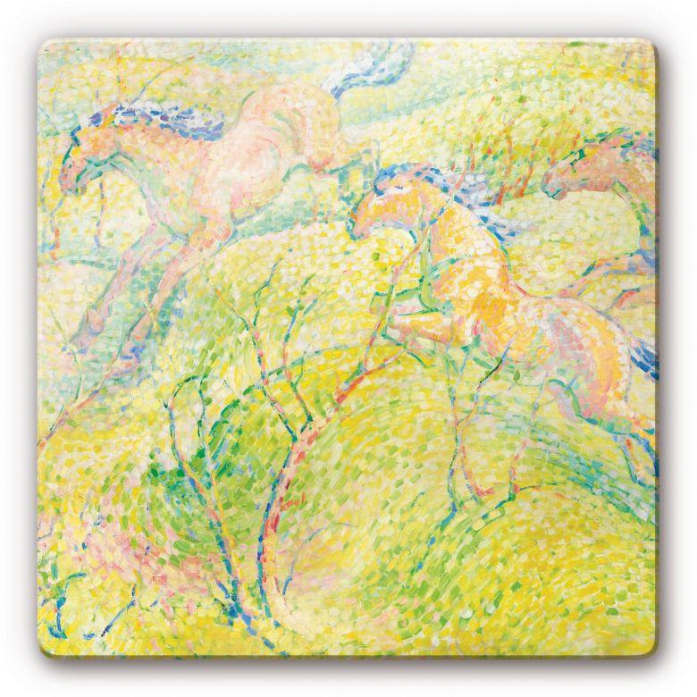 Franz Marc - Jumping Horses Glass art