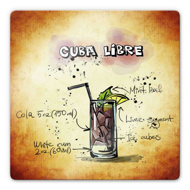 Glasbild Cuba Libre - Rezept