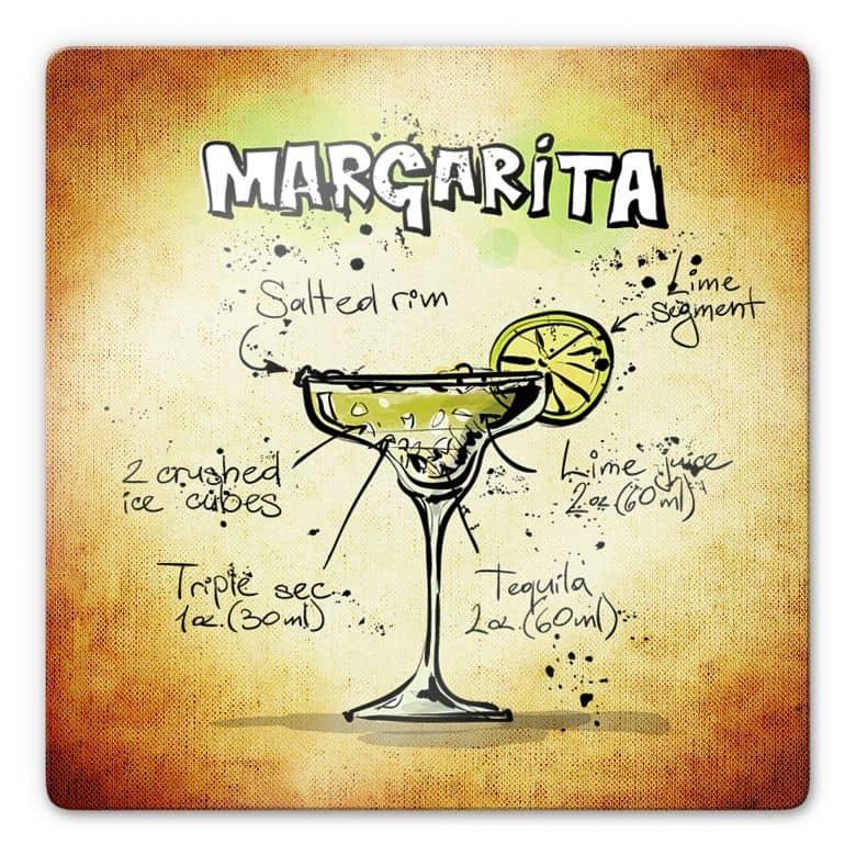 Glasbild Margarita - Rezept