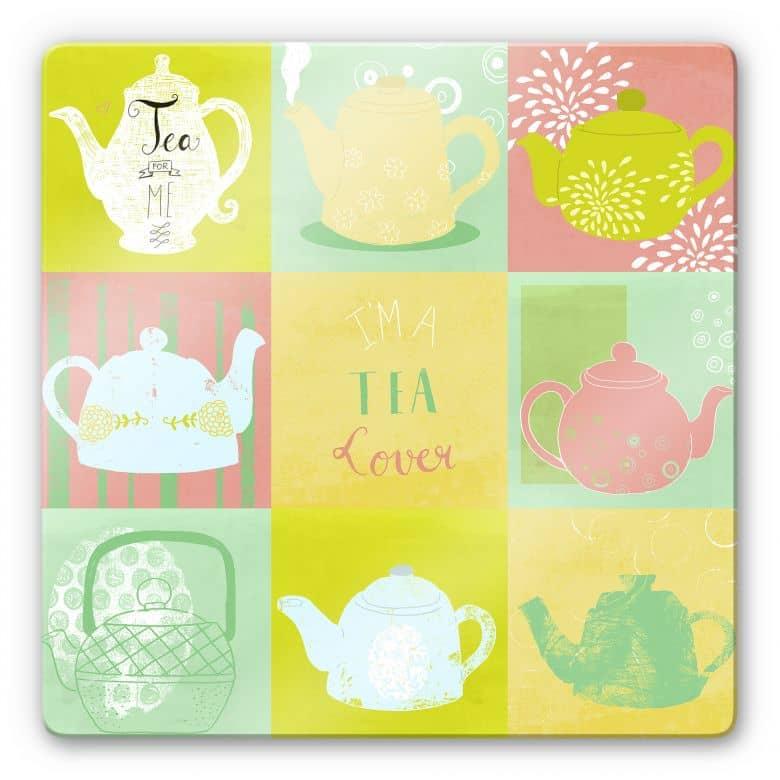 Glasbild Loske - Tea Time