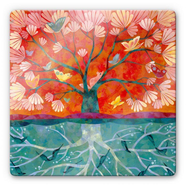 Glasbild Blanz - Baum des Lebens