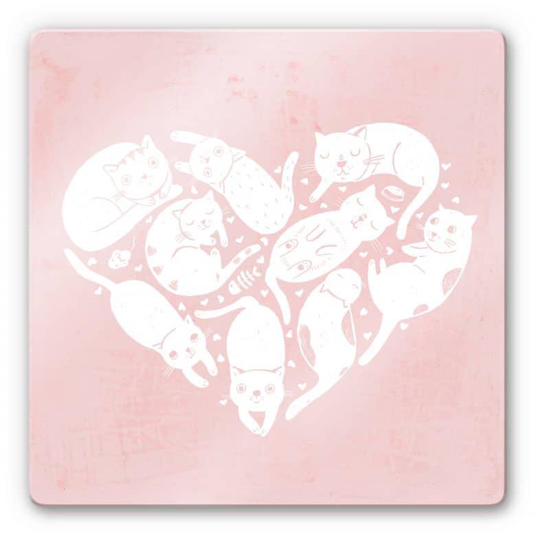 Glasbild Loske - Cat Heart