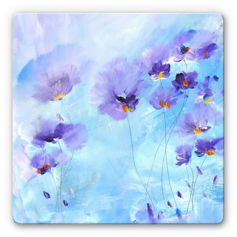 Glasbild Niksic - Rhapsody Blue - quadratisch