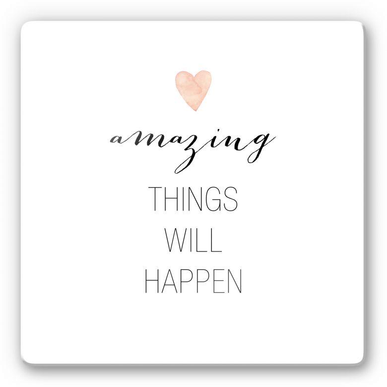 Glasbild Confetti & Cream - Amazing things will happen