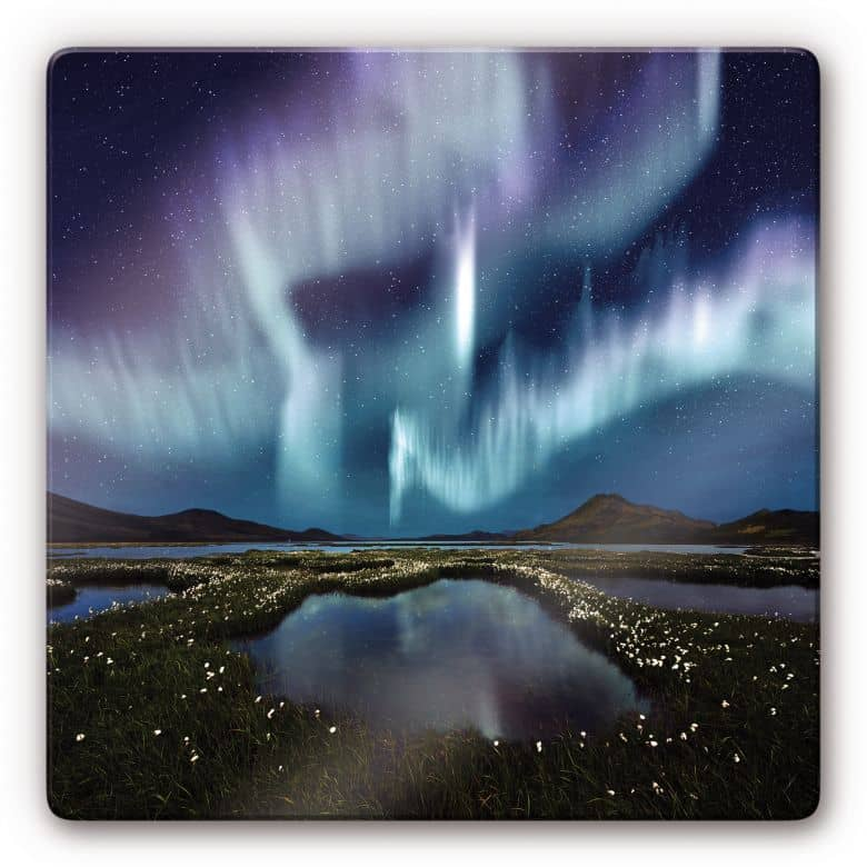 Northern Light Glass art