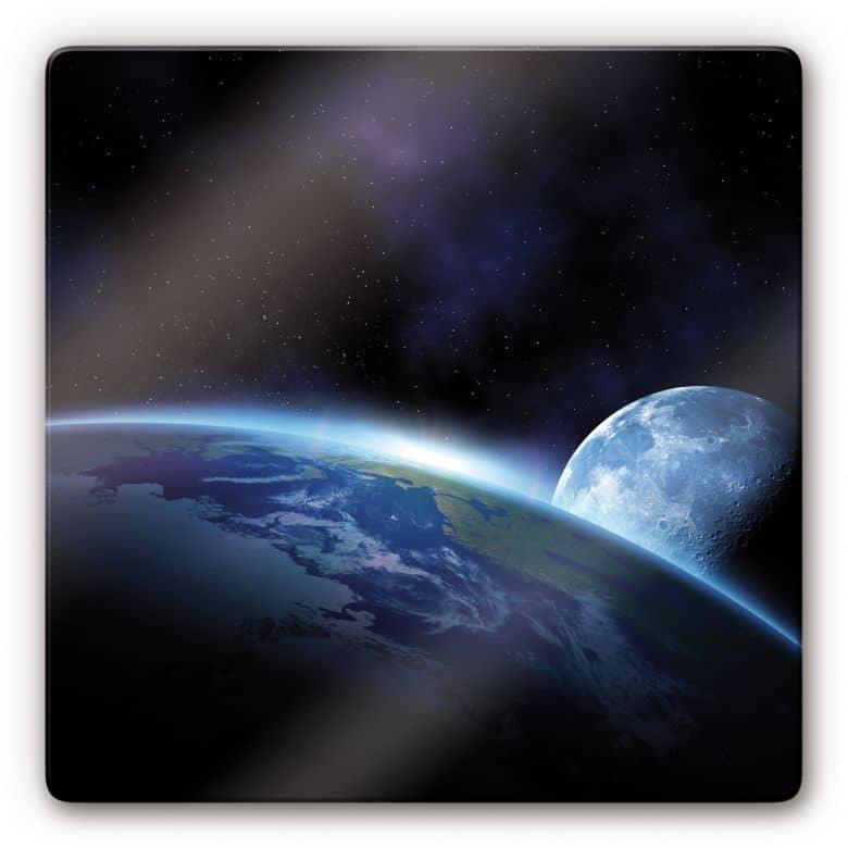 Glasbild Planet Earth