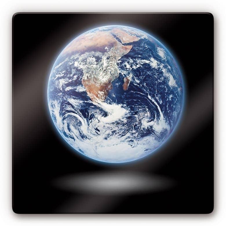 Glasbild Earth 1
