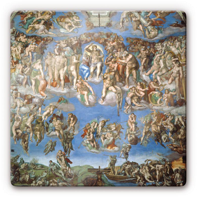 Glasbild Michelangelo - Das jüngste Gericht