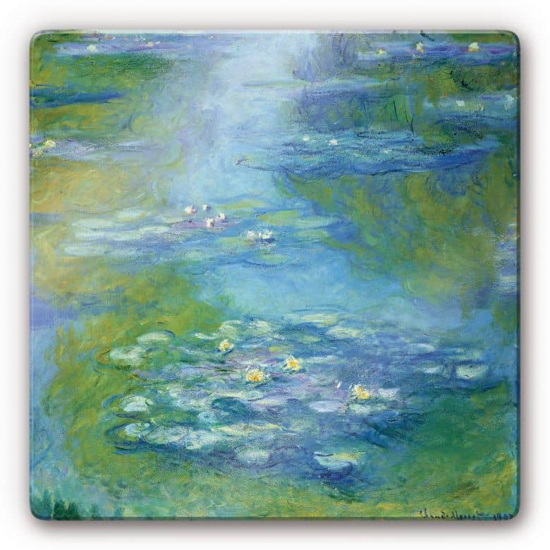 Glasbild Monet - Seerosen 1907