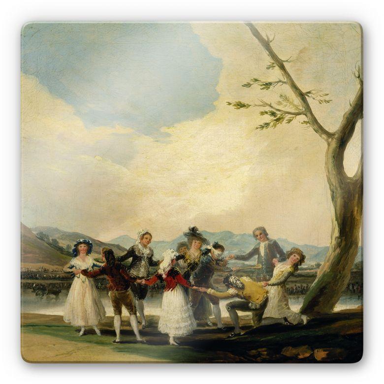 Glasbild de Goya - Das Blindekuhspiel