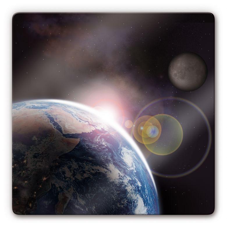 Glasbild Earth 2