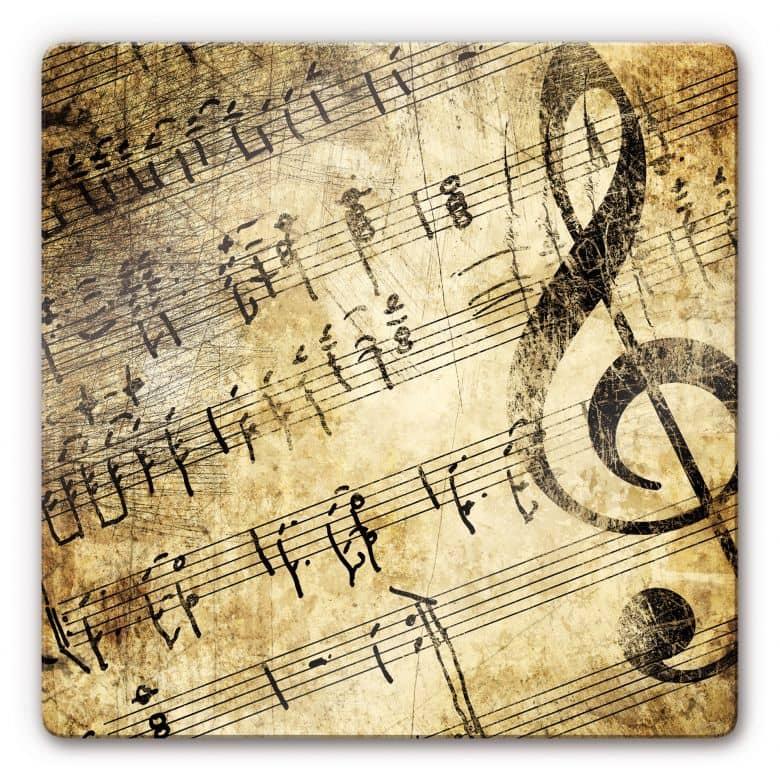 Glasbild musik wundersch nes vintage motiv f r musikliebhaber wall - Vintage bilder kostenlos ...