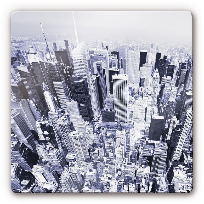 Glasbild Manhattan Luftbild