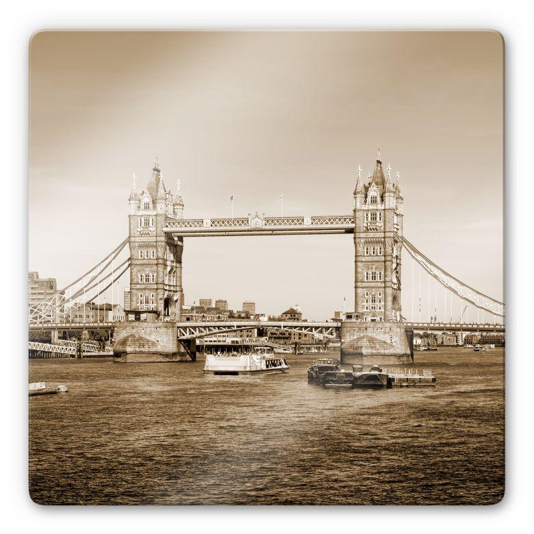 Glasbild Tower Bridge - quadratisch