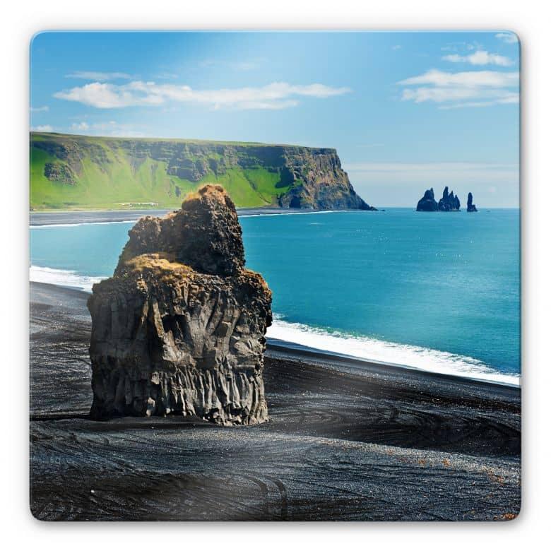 Glasbild Cape Dyrholaey - quadratisch