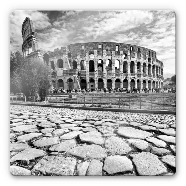 Glasbild Colosseum - quadratisch