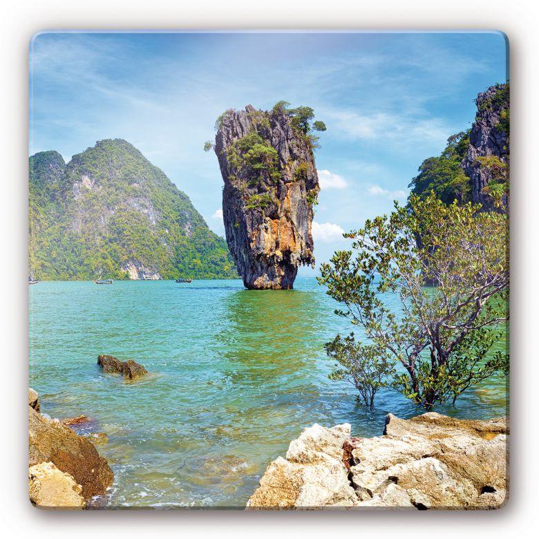 Glasbild Khao Ta-Pu Island - quadratisch
