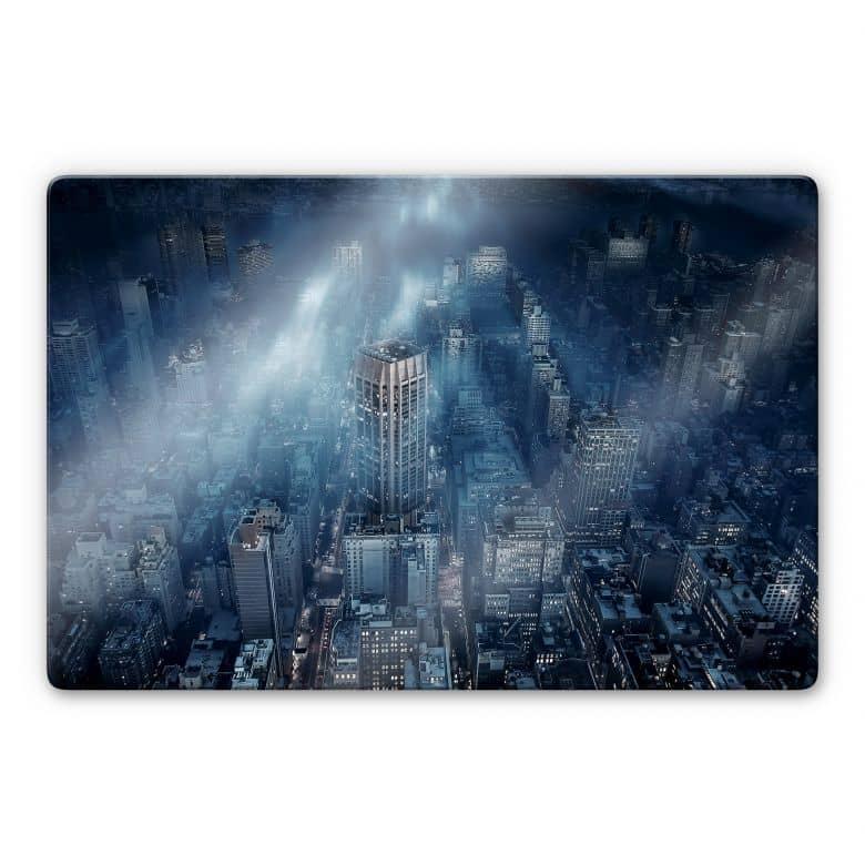 Glasbild Løndal - Nebel in NYC