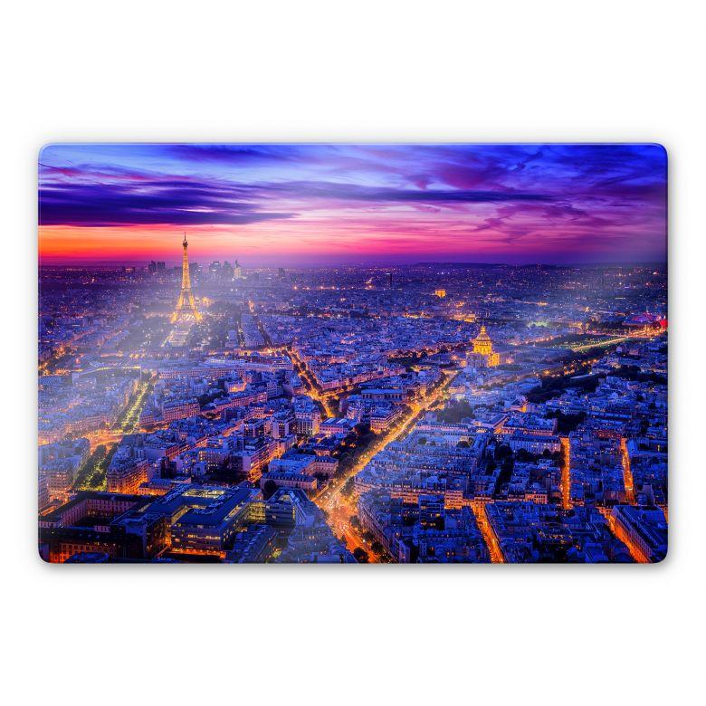 Glasbild Miguel - Paris bei Nacht