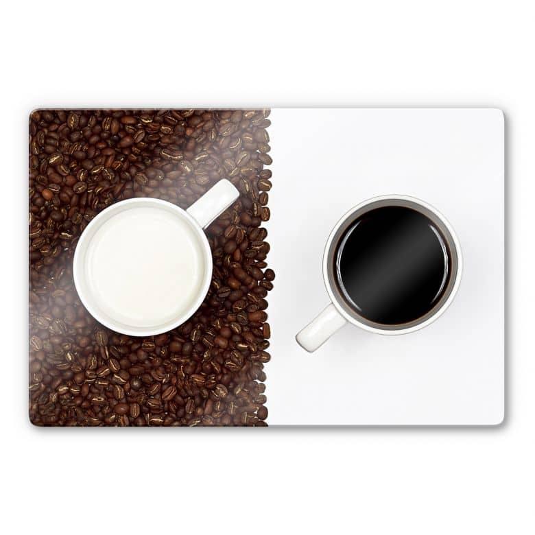 Glasbild Lavsen - White Espresso