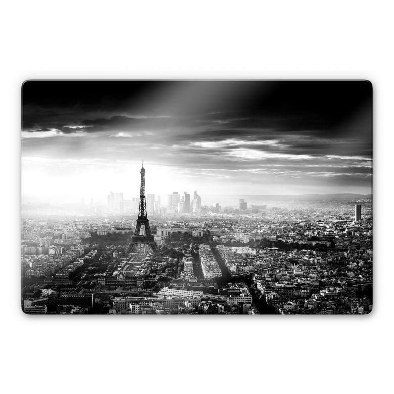 Glasbild Marx - Paris im Nebel
