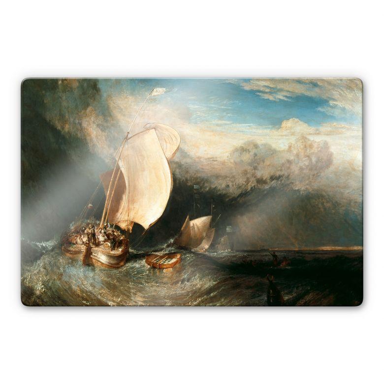 Glasbild Turner - Fischerboote