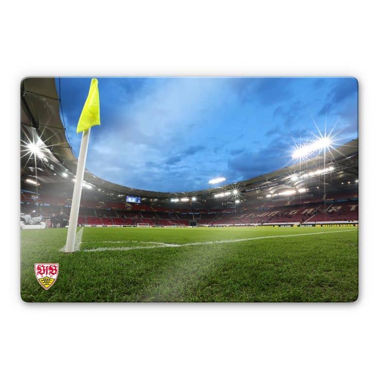 Glasbild VfB Stuttgart Arena Nacht