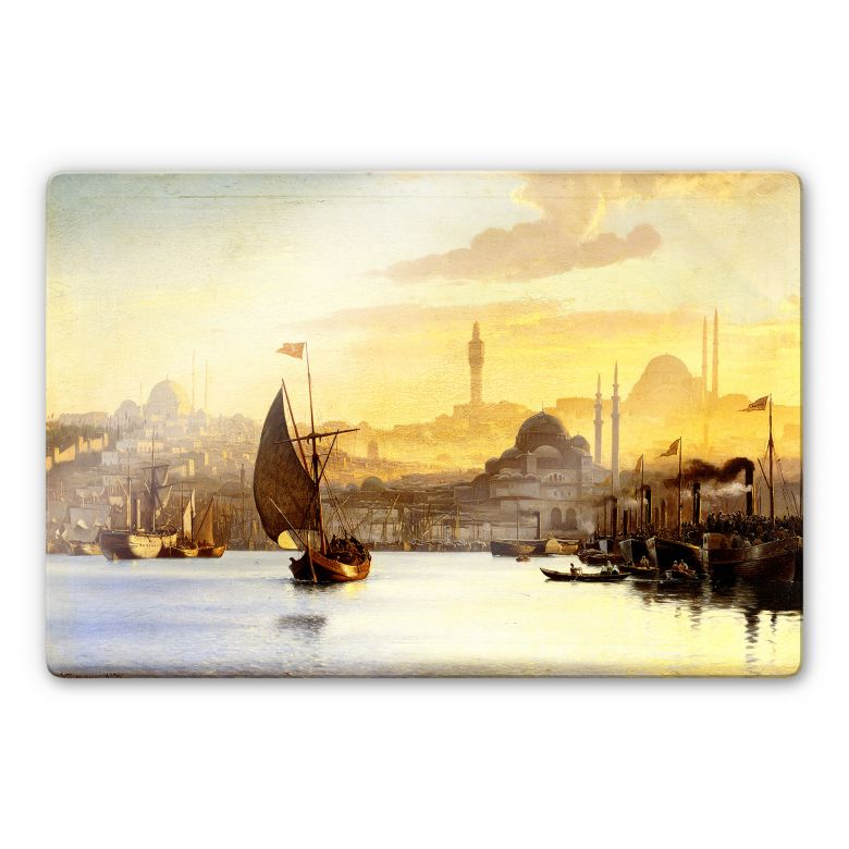 Glasbild Neumann - Konstantinopel