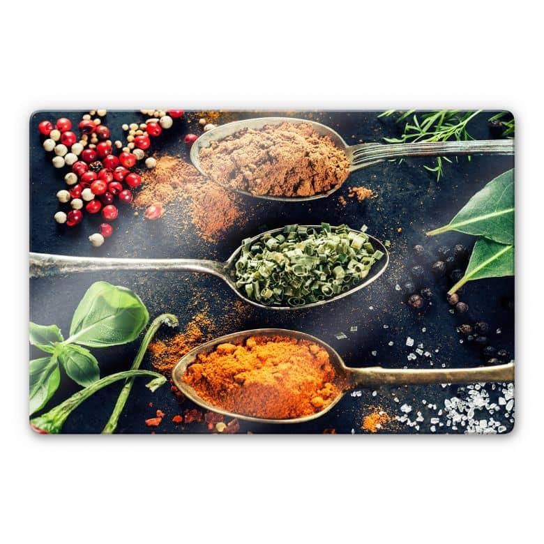 Herbs diversity 05 Glass art