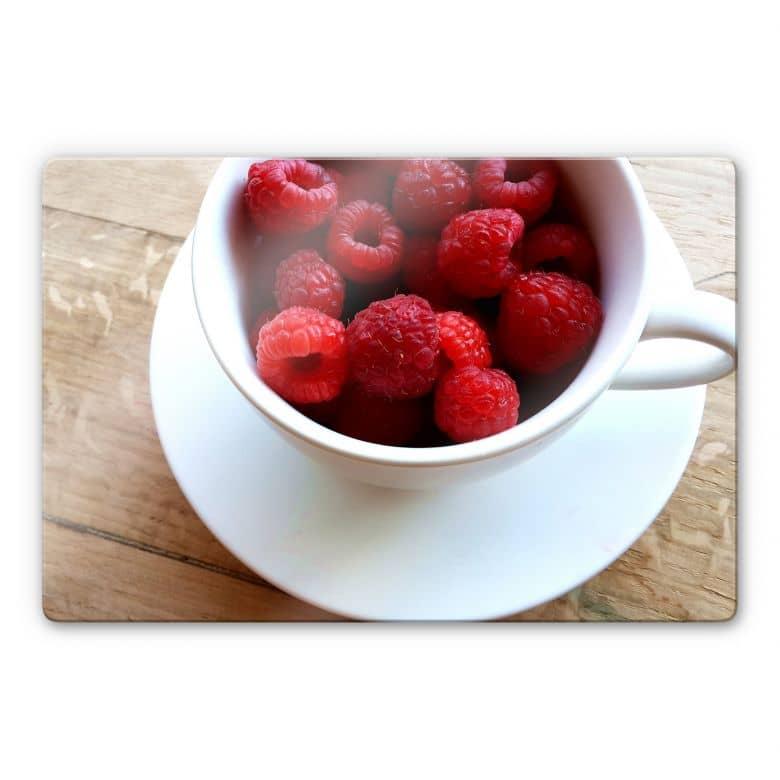 Glasbild Himbeer-Dessert
