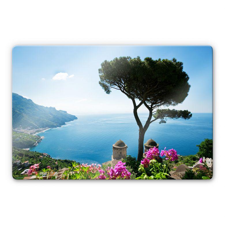 Tableau en verre - Vue sur la côte amalfitaine