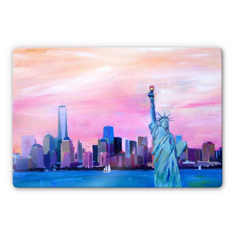 Glasbild Bleichner - New York Freiheitsstatue