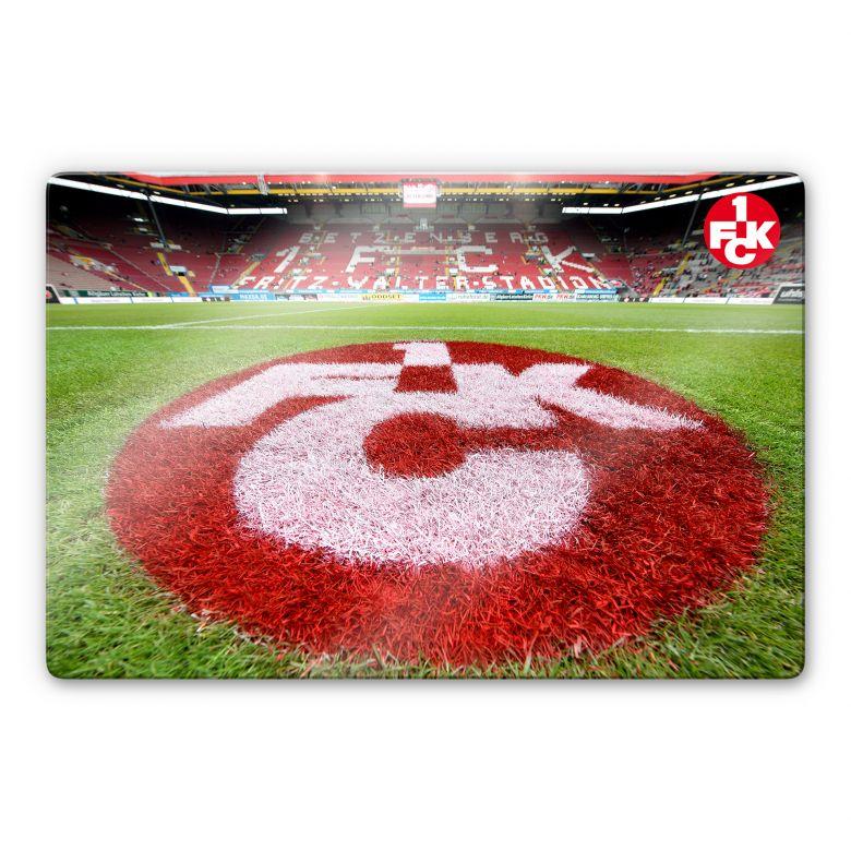 Glasbild 1. FC Kaiserslautern - Rasen Logo
