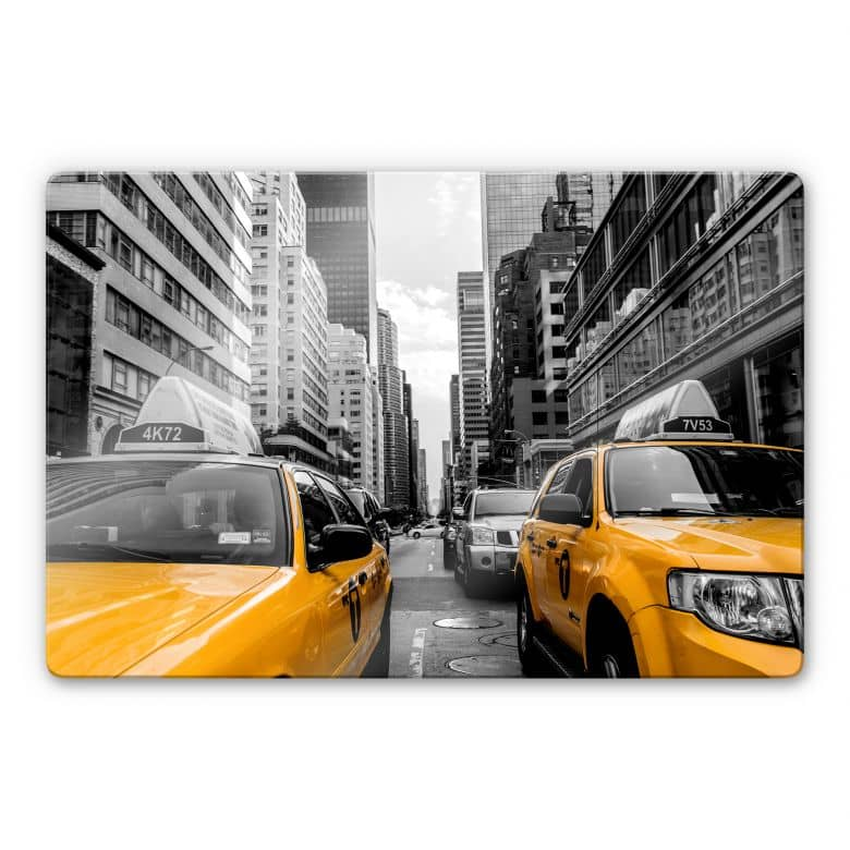 Glasbild Streets in New York City