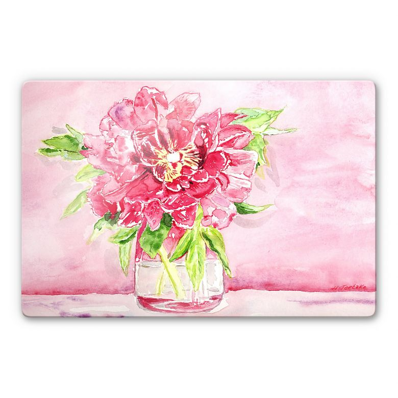 Glasbild Toetzke - Bouquet for Mavis