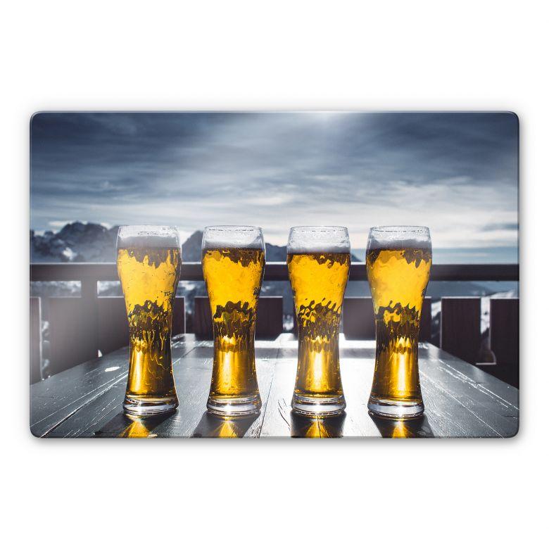 Glasbild Eiskaltes Bier