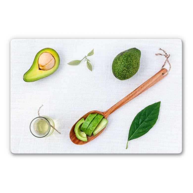 Glasbild Frische Avocado